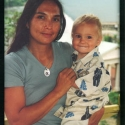 JoAnn Balingit, with Julian, 1999